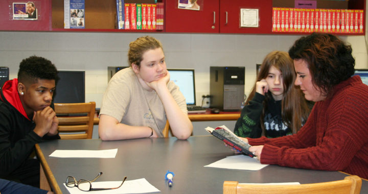 Students in Creative Writing class