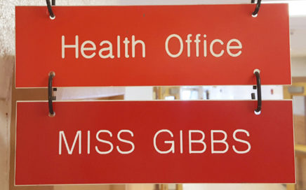 Health Office - Miss Gibbs