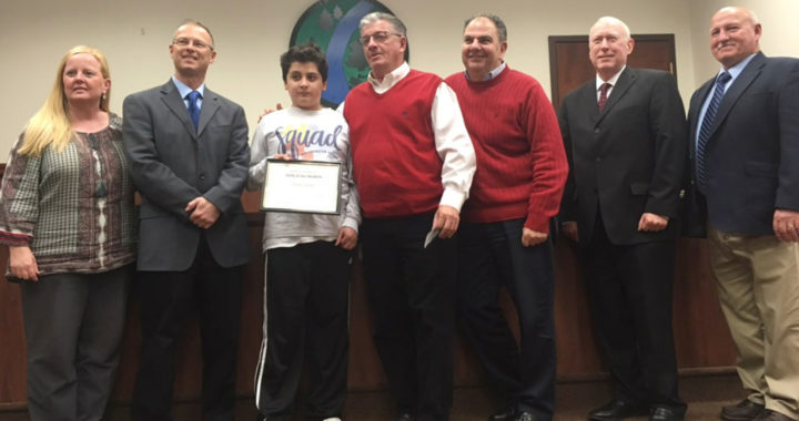 Student Liam Gavin receives Teen of the Month Award