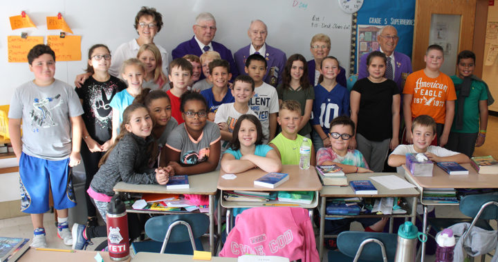 Students with Troy Lodge of Elks