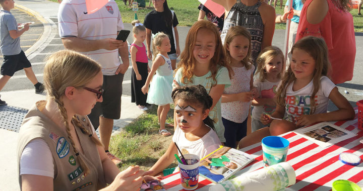Children get their faces painted