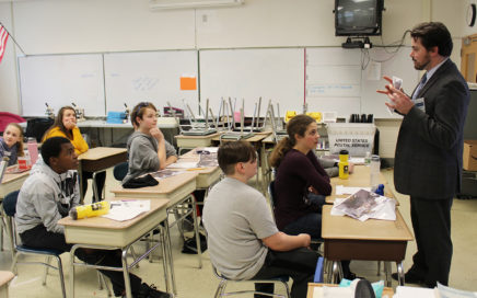 Students learn about careers