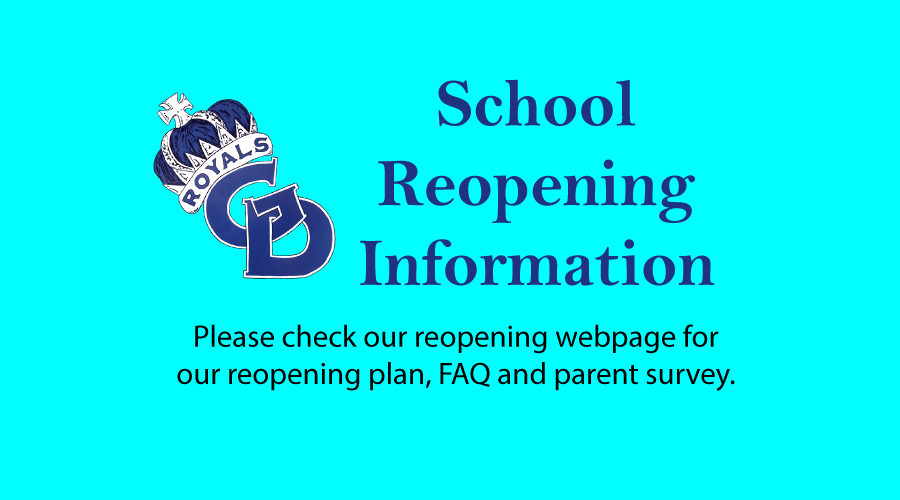 GD School Reopening Information
